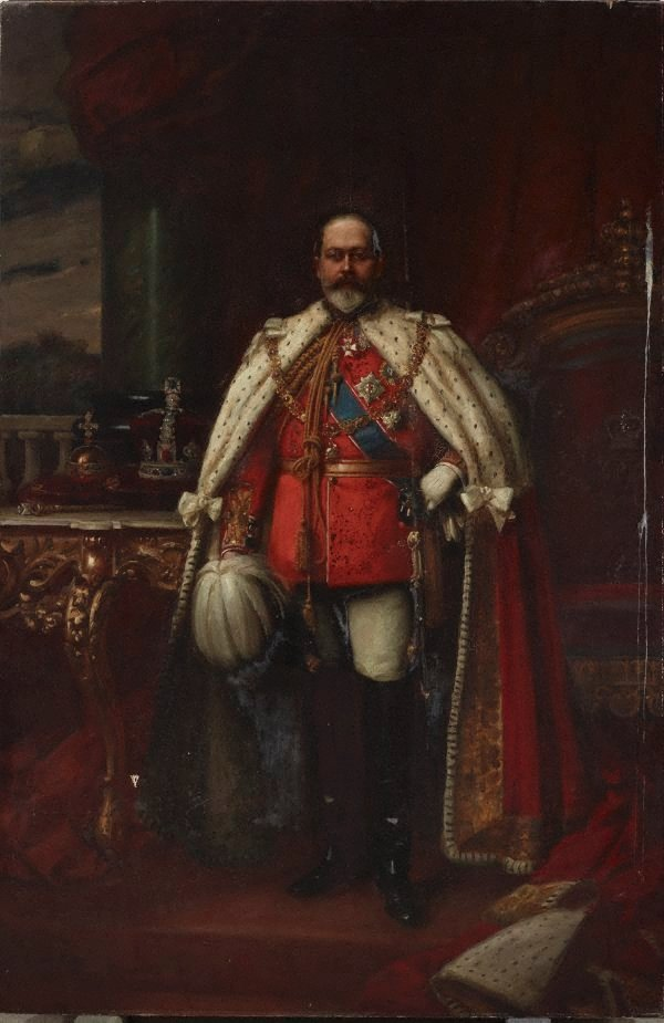 An image of King Edward VII in coronation robes