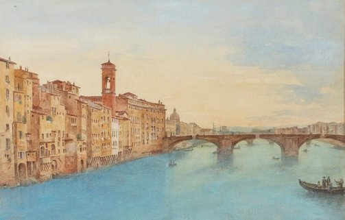An image of Lung Arno, Florence by Jean Joseph Vervloet