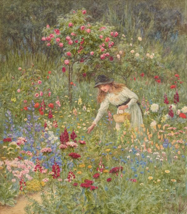 An image of Gathering flowers