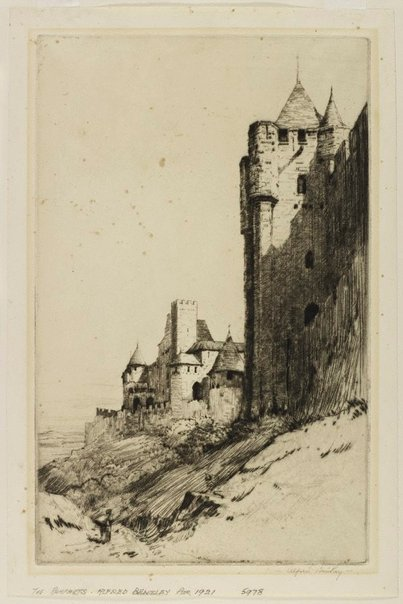 An image of The ramparts by Alfred Bentley