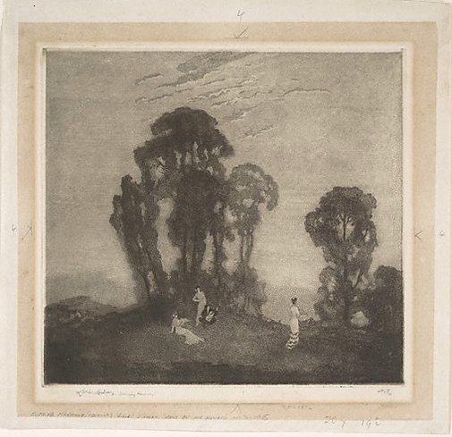 An image of Evening harmony by Lionel Lindsay