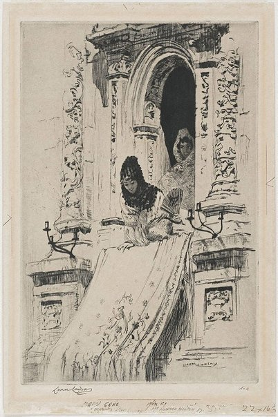 An image of Mardi Gras by Lionel Lindsay