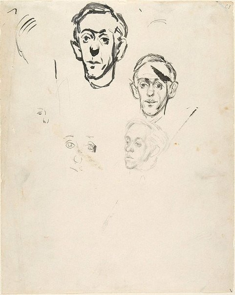 An image of (Studies of Joshua Smith) by William Dobell