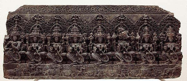 An image of The Seven Mother Goddesses (Saptamatrika)