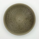 Alternate image of Bowl with chrysanthemum design by Yaozhou ware