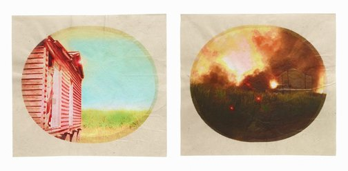An image of Plantation (Diptych No. 2) by Tracey Moffatt