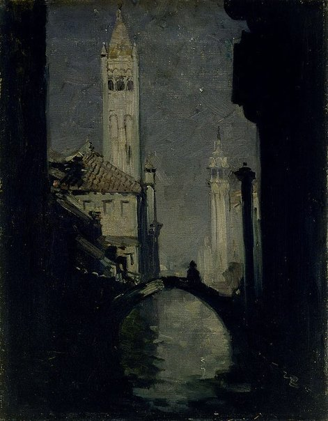 An image of Moonlight, Venice by Arthur Streeton