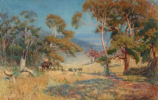 An image of Australian sheep country by Albert Hanson