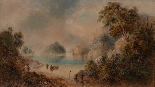 An image of Llyn-Elsi, North Wales by William Henry Raworth