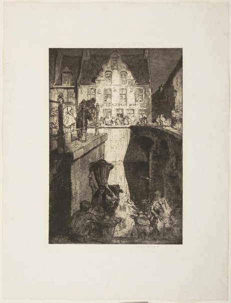 An image of The Inn of the Parrot by Sir Frank Brangwyn