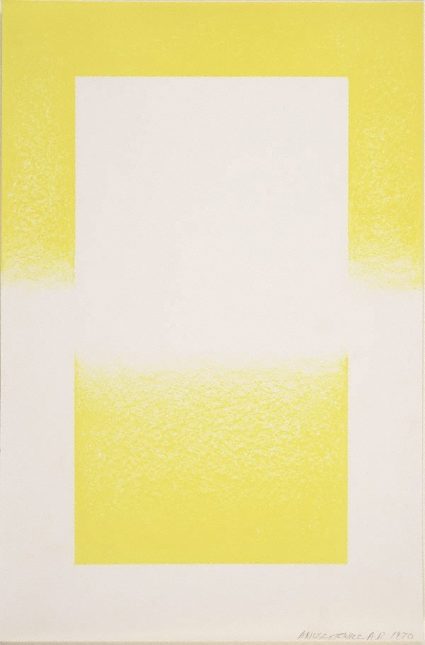 An image of Untitled (Yellow and white abstract)