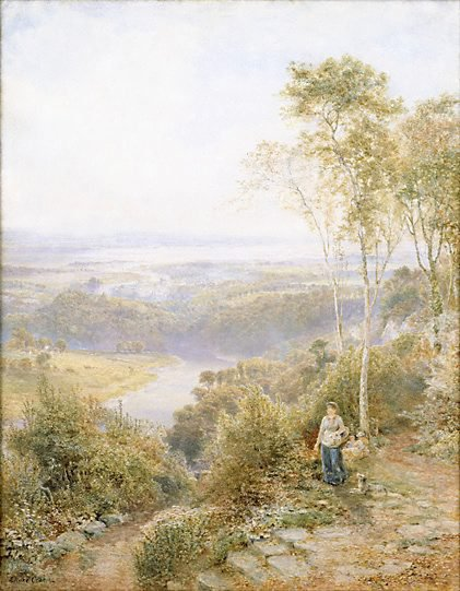 An image of Junction of rivers Wye and Severn by E. Wake Cook