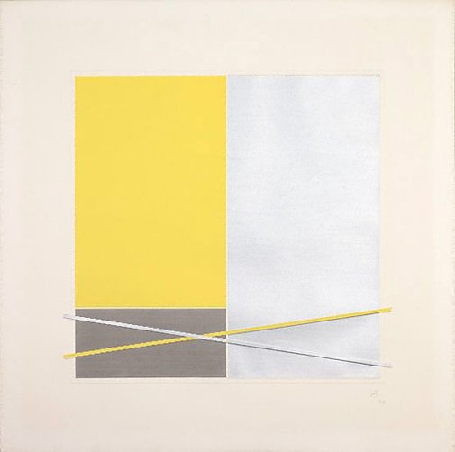 An image of Yellow, grey rectangles by Jesus-Rafael Soto