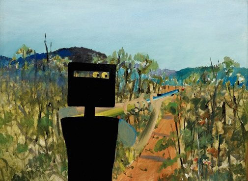 An image of First-class marksman by Sidney Nolan