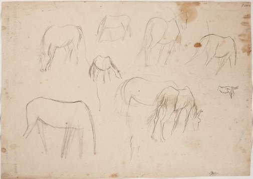 An image of (Horse studies) (London genre) by William Dobell