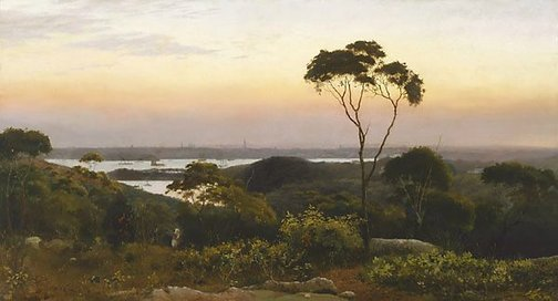 An image of Sydney from the North Shore by C.H. Hunt