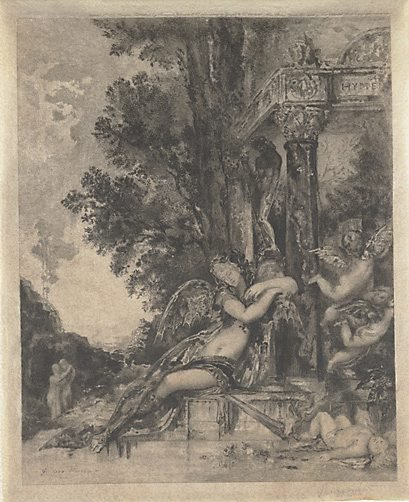 An image of The discord by Félix Bracquemond, after Gustave Moreau