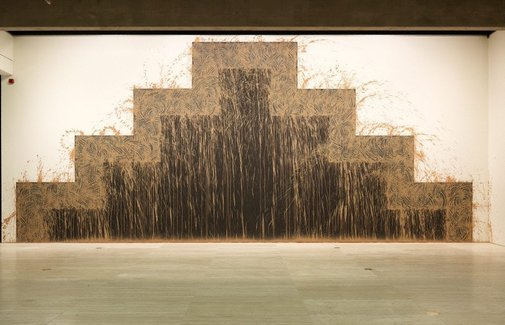 An image of Southern gravity by Richard Long