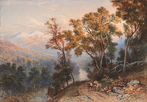 An image of Landscape (New Zealand) by Nicholas Chevalier