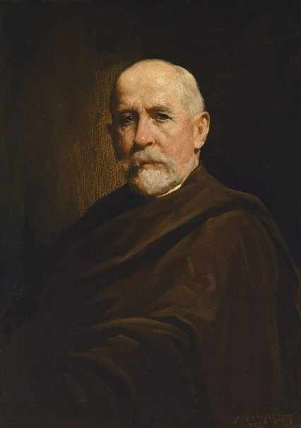 An image of Portrait study (man with cloak) by Norman Carter