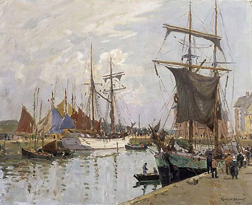 An image of The quay, Concarneau by Charles Bryant