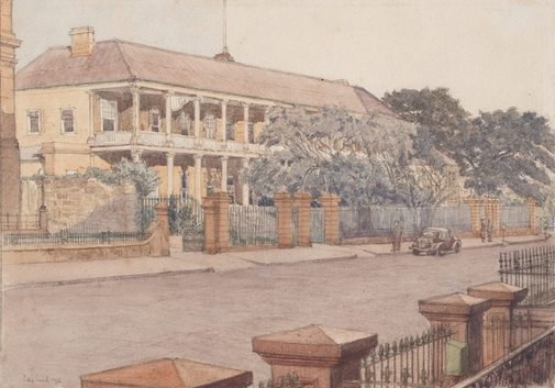 An image of Old mint, Macquarie St by Sydney Ure Smith