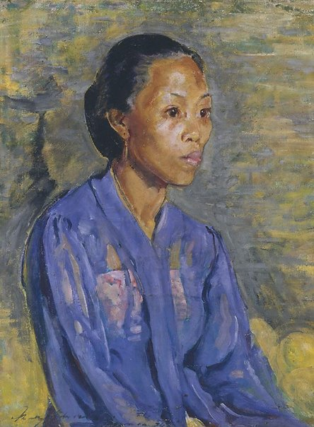 An image of Javanese in blue by Mary Edwell-Burke