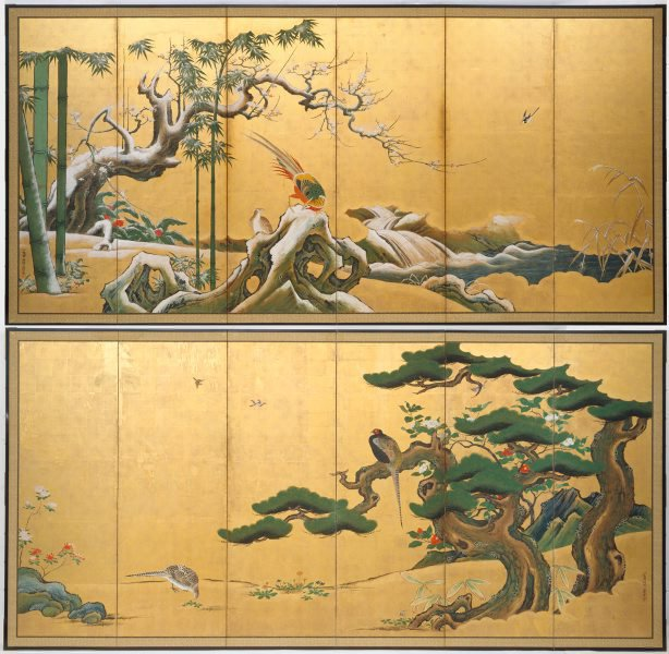 An image of Pine, bamboo and plum blossom