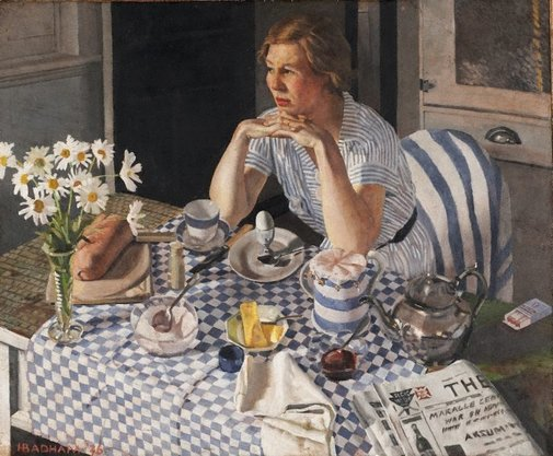 An image of Breakfast piece by Herbert Badham