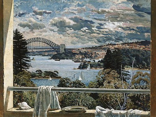 An image of Sydney Harbour by John D. Moore
