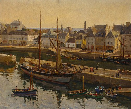 An image of Concarneau from the ramparts by Charles Bryant