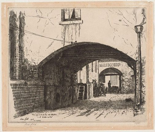 An image of Approach to old stables of Cobb and Company, Melbourne by Victor Cobb