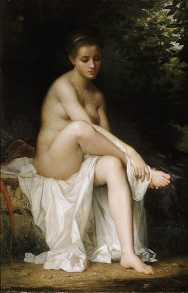 An image of Ismenie, Nymph of Diana by Charles Landelle