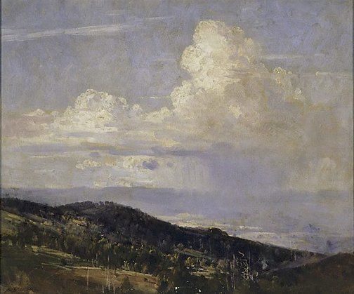 An image of Passing showers by Arthur Streeton