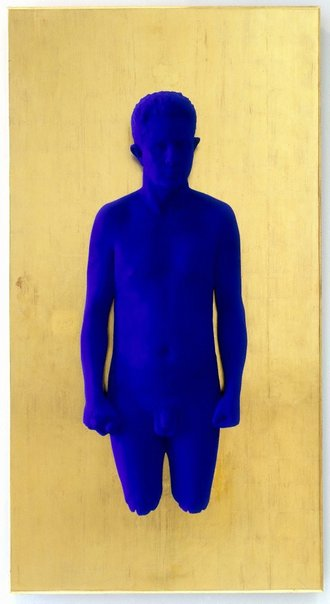 An image of Portrait relief PR3 (portrait of Claude Pascal) by Yves Klein