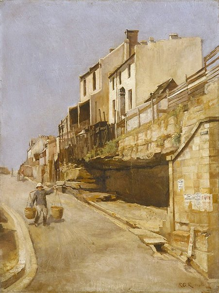 An image of Street in Old Sydney by Godfrey Rivers