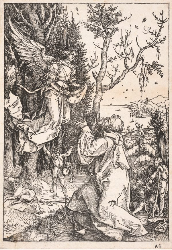 An image of Joachim and the angel