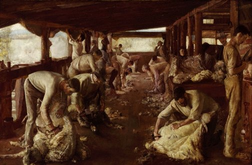 An image of The Golden Fleece by Tom Roberts