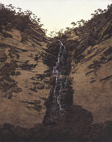 An image of A waterfall (Strath Creek) by William Delafield Cook