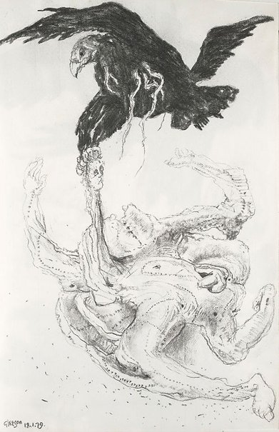 An image of Study for 'Prometheus' by James Gleeson