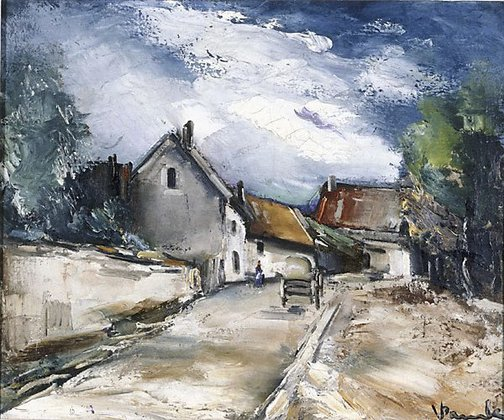 An image of Italian village by Maurice de Vlaminck