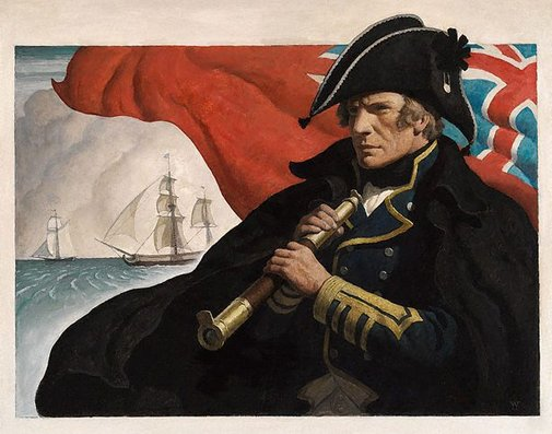 An image of Commodore Hornblower by Newell Convers Wyeth