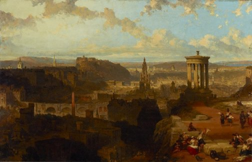An image of Edinburgh from the Calton Hill by David Roberts