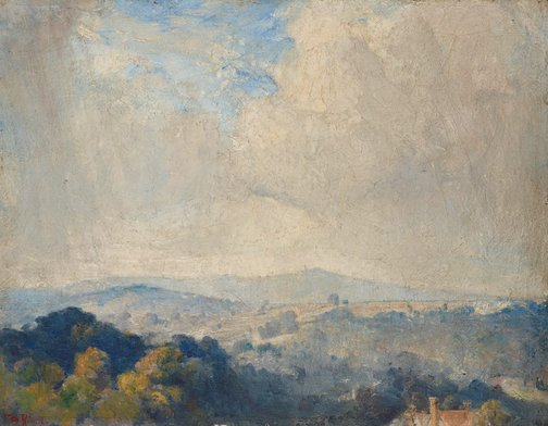 An image of Harrow Hill by Tom Roberts