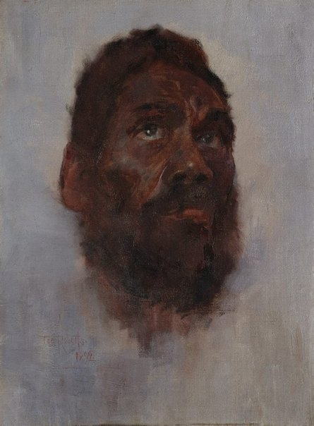 An image of Aboriginal head - Charlie Turner by Tom Roberts