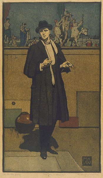 An image of The man in black by Napier Waller