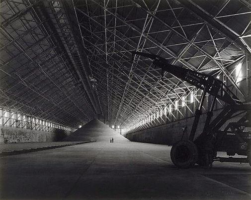 An image of Sugar pile in warehouse, Queensland by Max Dupain