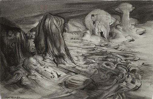 An image of Sketch for 'La costa metamorphica' by James Gleeson