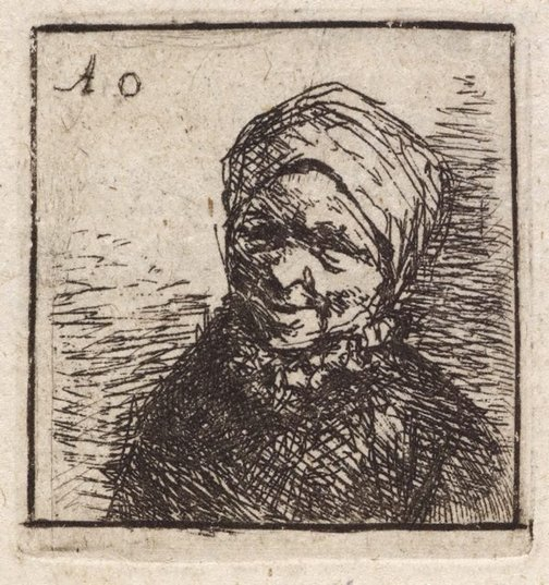 An image of Bust of a peasant by Unknown, after Adriaen van Ostade