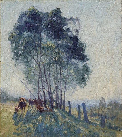 An image of The wattles by Elioth Gruner